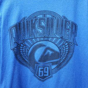 Quiksilver Blue Graphic T-shirt XL